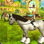 Beautiful white horse and alicia in my horse stroy pc game