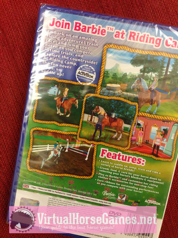 Barbie Horse Adventures Game for PC PS2Nintendo DS
