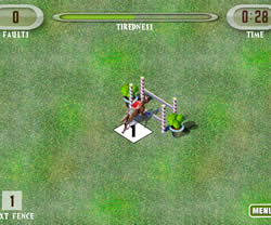 Show Jumping Horse game in flash