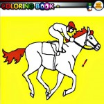 Race horse coloring facebook game