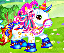 Fantasy Pony Dress Up game in flash