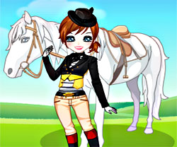 Girl And Horse Dress Up game in flash