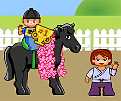 Pony Club Race game in flash