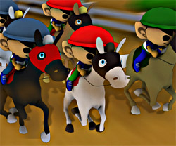 Raceday game in flash
